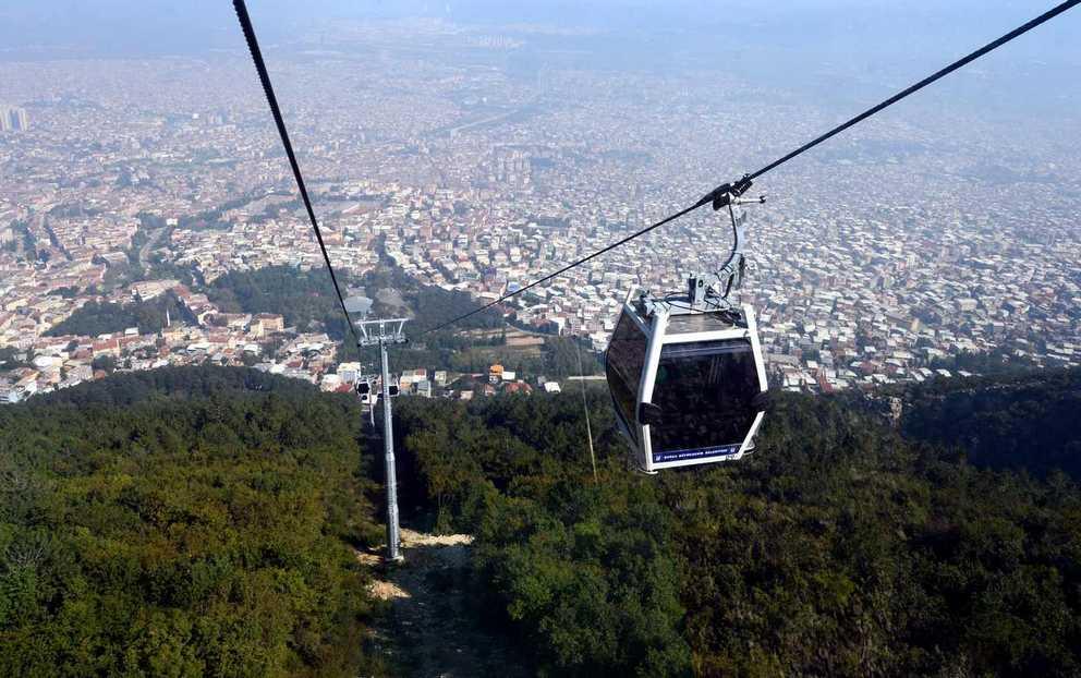تلفريك بورصة من اجمل اماكن السياحة في تركيا بورصة