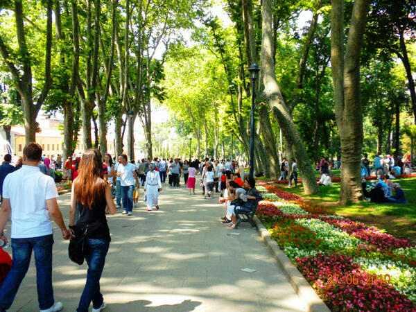 حديقة جولهانه القريبة من آيا صوفيا