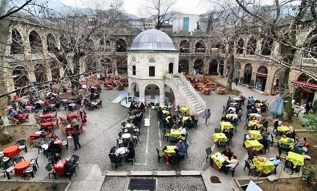 سوق كوزا خان او سوق الحرير احدى افضل اماكن التسوق في بورصة تركيا