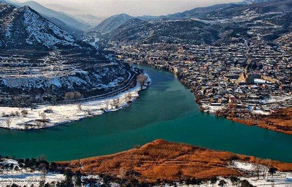 مدينة تبليسي في الشتاء