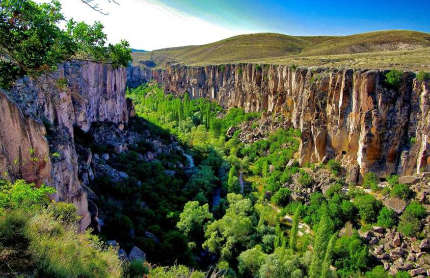 الاماكن السياحية في كابادوكيا وادي اهلارا من اجمل معالم كبادوكيا تركيا