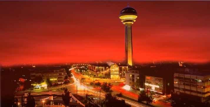 برج اتاكوله من المعالم السياحية في أنقرة تركيا