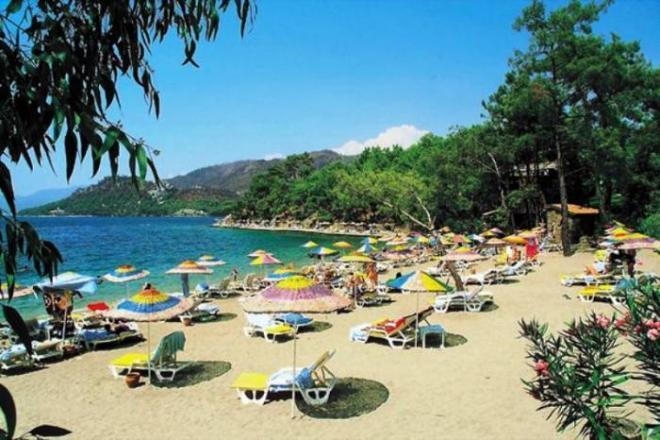 شاطئ اتشملر من اجمل شواطئ مرمريس التركية