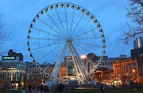 الاماكن السياحية في مانشستر - عجلة مانشستر