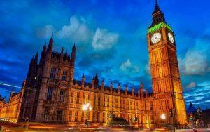 ساعة بيج بن او برج الساعة في لندن من اهم الاماكن السياحية في لندن انجلترا