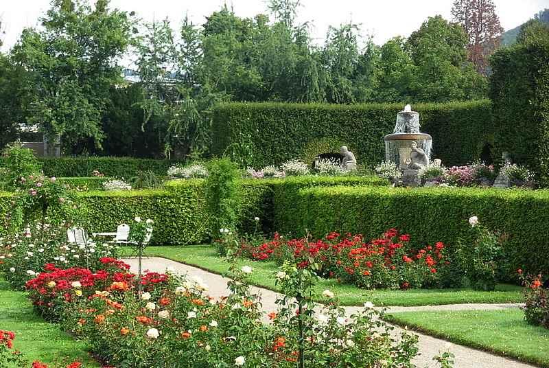 حديقة الزهور من اجمل حدائق مدينة بادن بادن