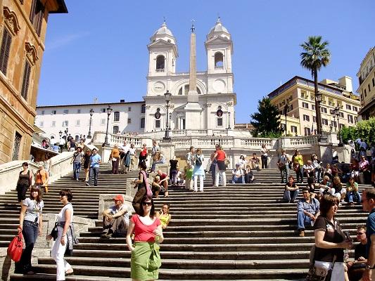 السلالم الإسبانية روما