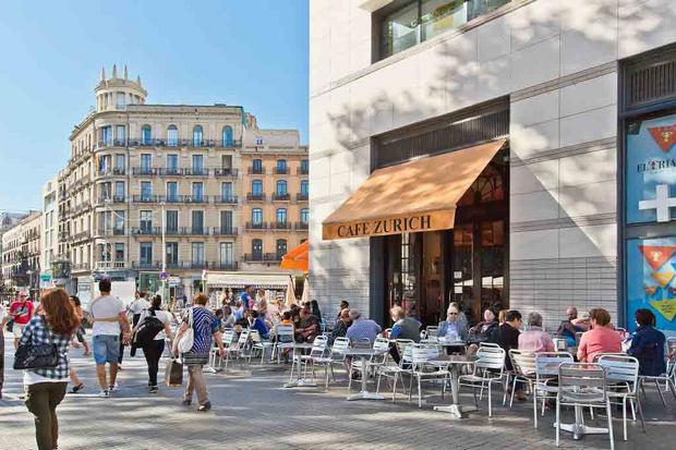 ساحة كاتالونيا من اجمل اماكن السياحة في برشلونة اسبانيا