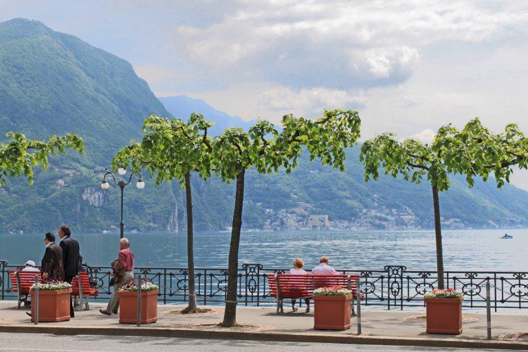 بحيرة لوقانو من اجمل الاماكن السياحية في لوقانو السويسرية