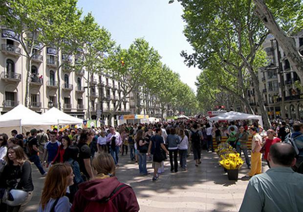 شارع الرامبلا برشلونة اسبانيا