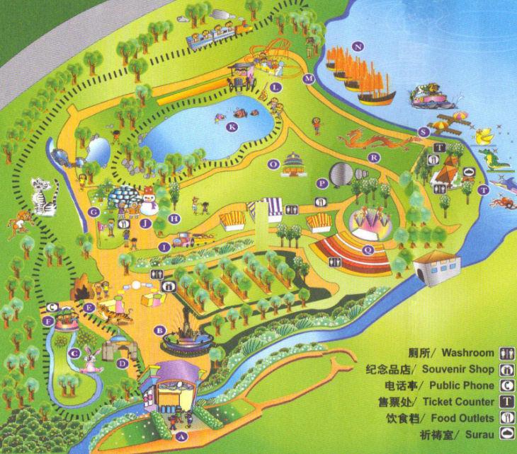 خريطة توضيحية لمعالم ماينز وندرلاند