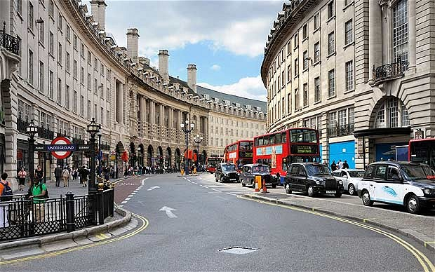شارع ريجنت من اشهر الشوارع في لندن