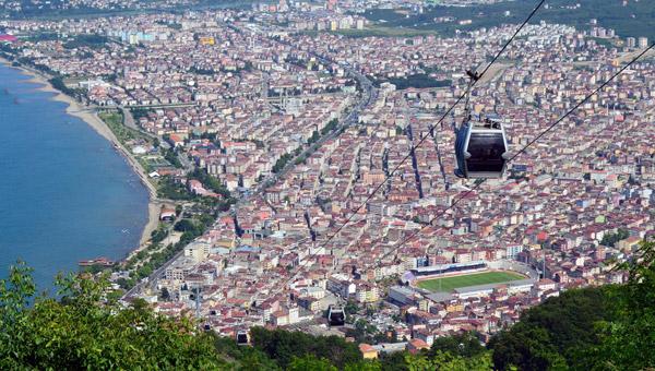 تلفريك اوردو من اجمل الاماكن السياحيه في اوردو تركيا