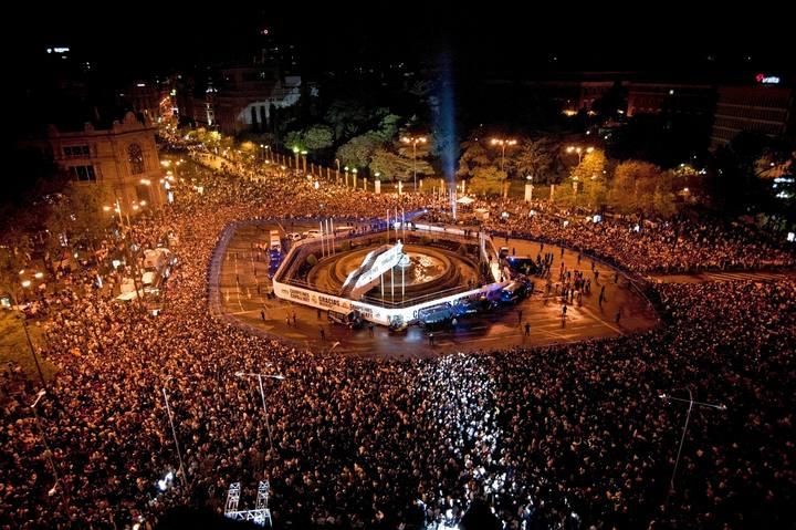 ساحة دي سيبيليس في مدريد اسبانيا