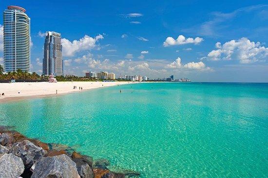 شاطئ ميامي من اجمل اماكن السياحة في ميامي