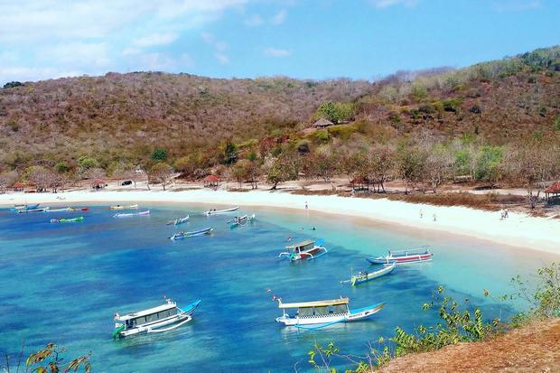 الشاطئ الوردي لومبوك اندونيسيا