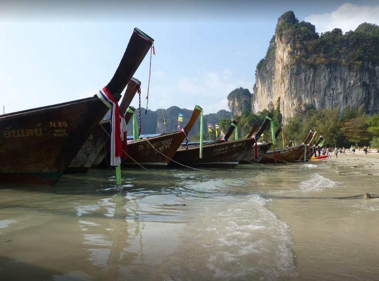 شاطئ رايلي من افضل اماكن السياحة في كرابي تايلاند