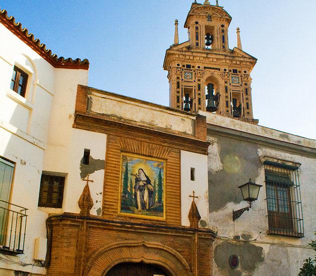 منطقة سانتا كروز من اجمل معالم مدينة اشبيلية اسبانيا