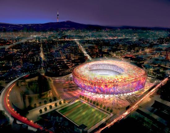 ملعب الكامب نو برشلونة اسبانيا