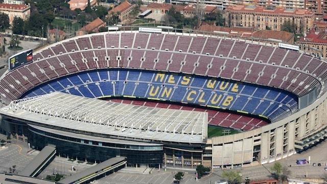 ملعب كامب نو برشلونة اسبانيا