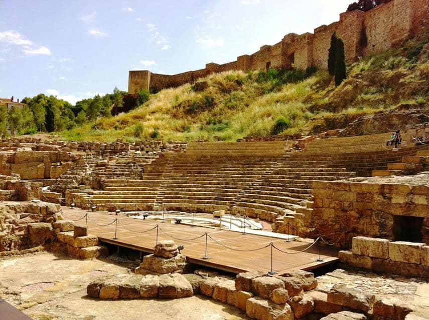 المسرح الروماني في ملقا اسبانيا