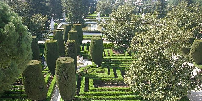 حدائق ساباتيني من اجمل حدائق مدريد اسبانيا