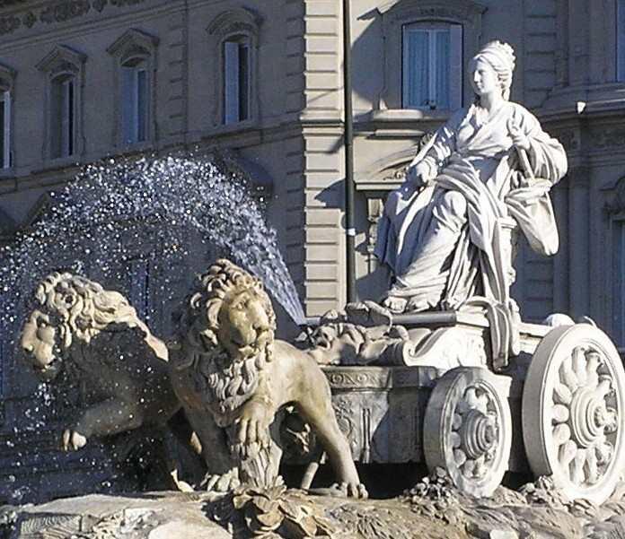 بلازا دي سيبيليس في مدينة مدريد اسبانيا