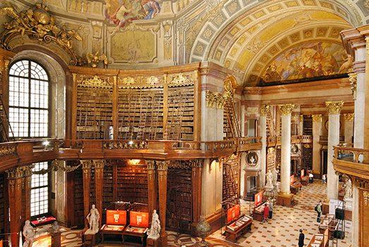 المكتبة الوطنية النمساوية اماكن سياحية في فيينا