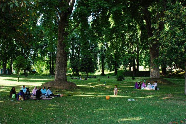 حديقة نيشات باغ من اجمل حدائق كشمير