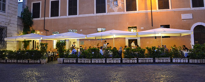 مطعم روما سباريتا من افضل مطاعم ايطاليا روما