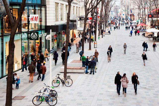 شوارع التسوق في فيينا