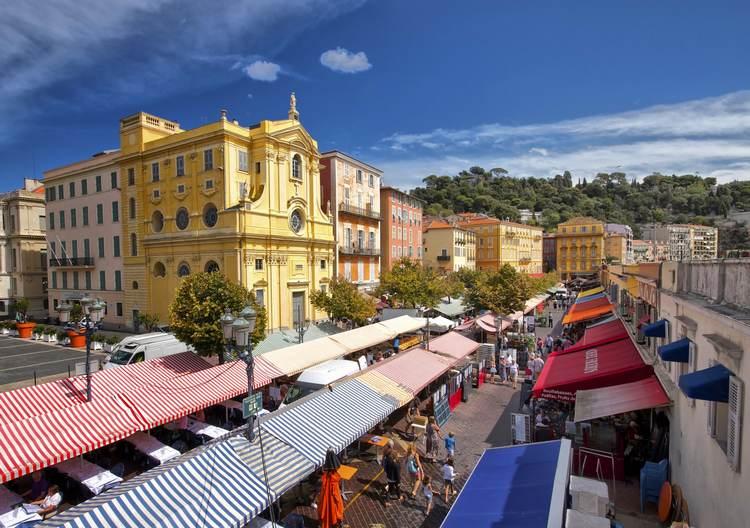 سوق زهرة كور ساليا من افضل اماكن سياحية في نيس فرنسا