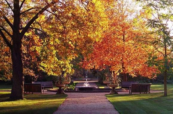 حديقة جامعة اكسفورد في مدينة اكسفورد انجلترا
