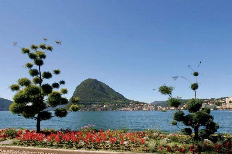 منتزه سياني من اجمل اماكن السياحة في لوغانو سويسرا