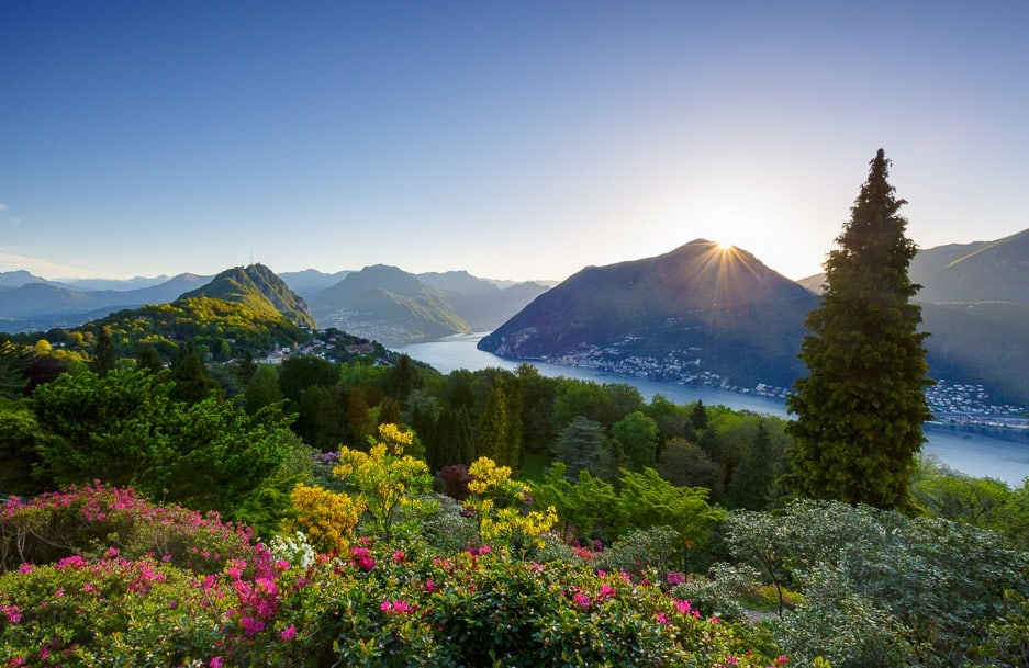 مُنتزه سان جراتو من اهم اماكن السياحة في لوغانو سويسرا