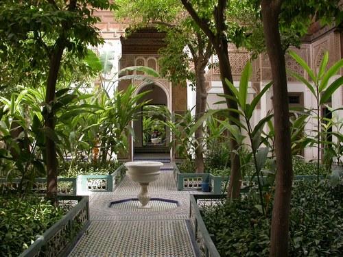قصر الباهية مراكش من اهم معالم مراكش المغرب