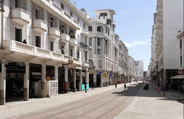 شارع محمد الخامس من اهم اماكن سياحية في كازابلانكا