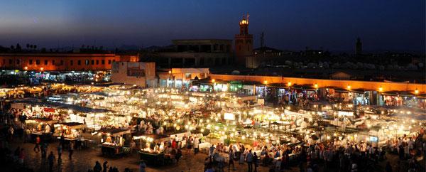 ساحة جامع الفنا مراكش المغرب