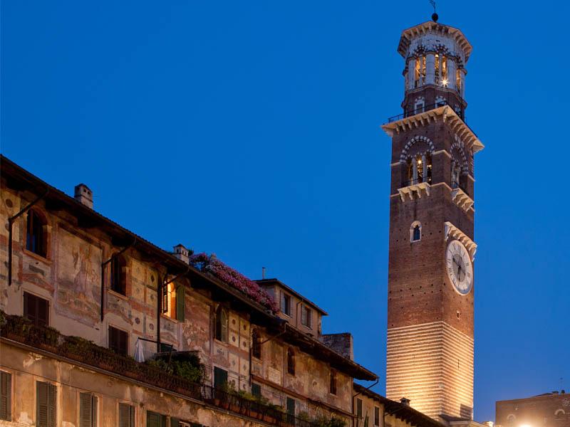 برج لامبيرتي من اهم اماكن سياحية في مدينة فيرونا