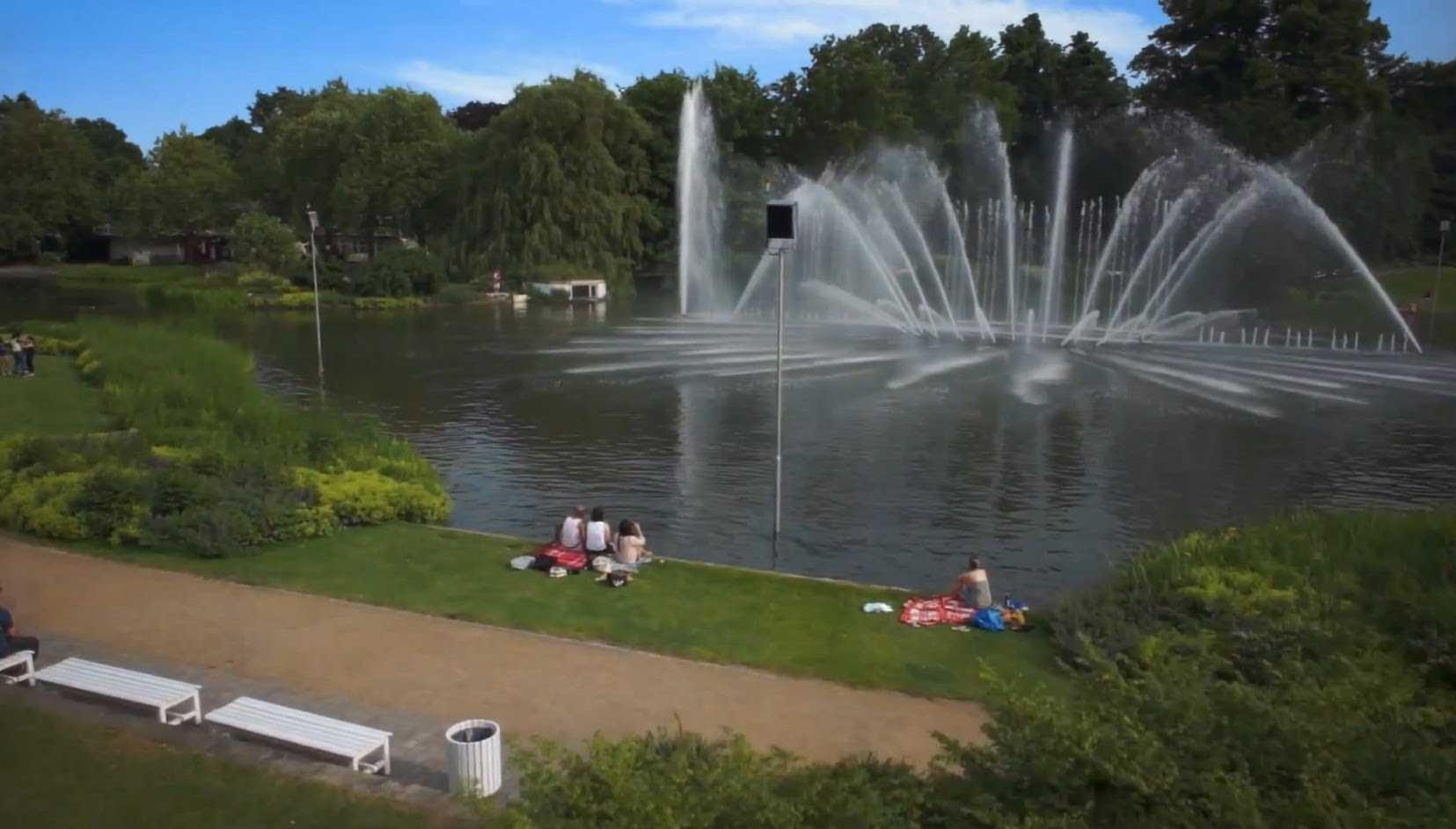 حديقة بلانتن اون بلومن من اجمل حدائق المانيا هامبورغ