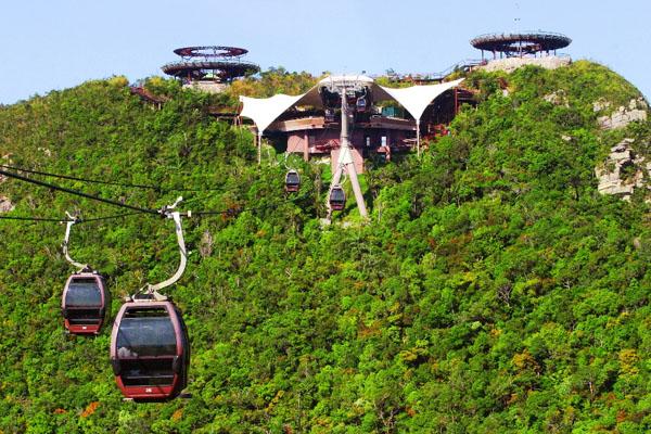 تلفريك لنكاوي من اجمل الاماكن في جزيرة لنكاوي ماليزيا