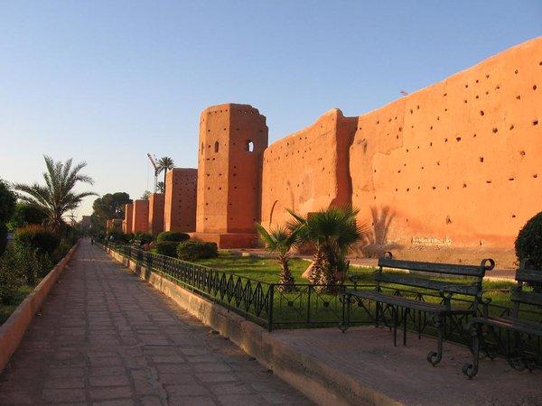 سور مراكش من اجمل معالم مدينة مراكش المغربية
