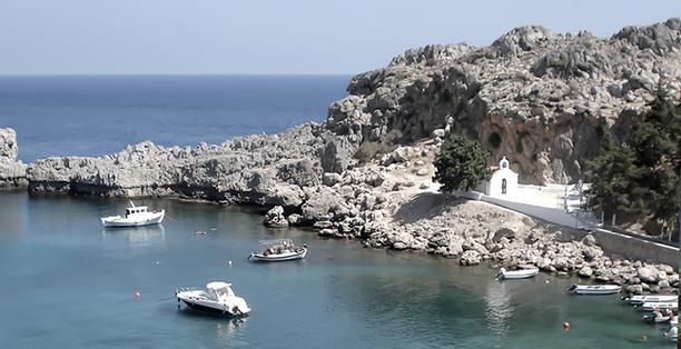 خليج القديس بولس من افضل اماكن السياحة في رودس اليونان