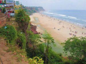 شاطئ فاركالا من اجمل اماكن السياحة في كيرلا