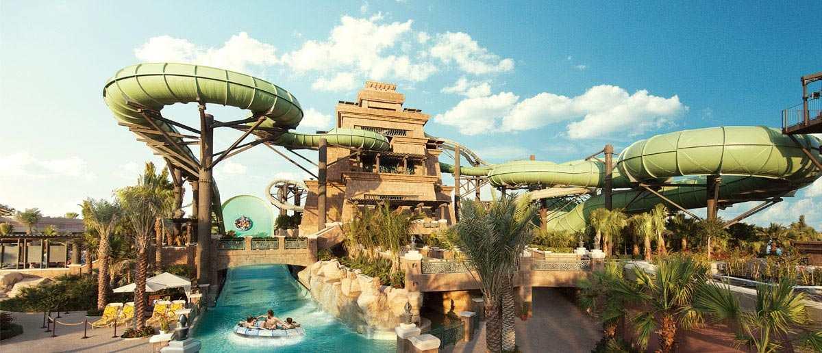 مدينة أكوافنتشر المائية من افضل الاماكن السياحية في دبي الامارات