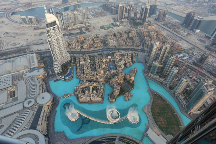 اطلالة برج خليفة في امارة دبي اعلى برج في العالم