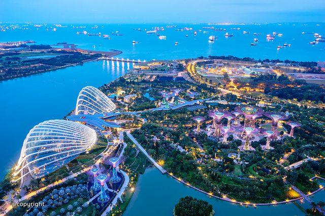حدائق الخليج من اهم مناطق السياحة في سنغافورة