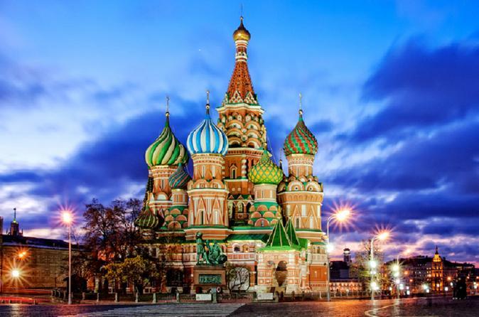 كاتدرائية القديس باسيل في مدينة موسكو