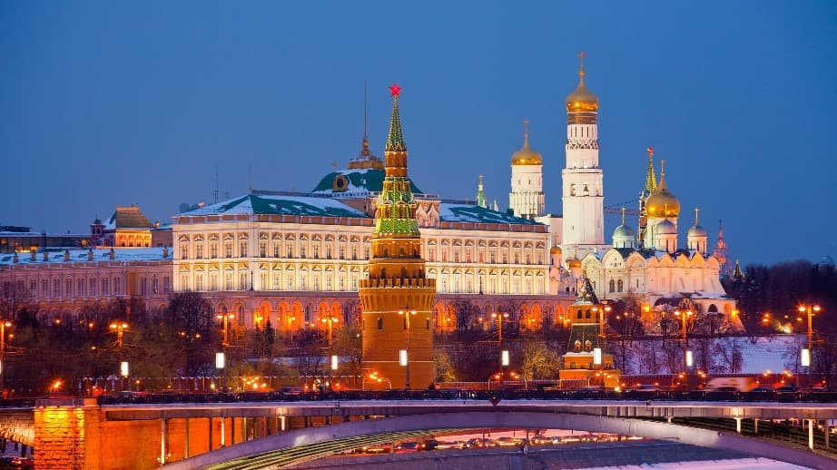 قصر الكرملين موسكو روسيا