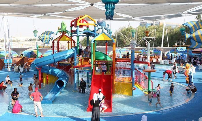حديقة الالعاب المائية مرجان ابوظبي من افضل الاماكن السياحية في ابوظبي المخصصة للاطفال